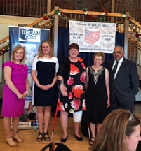 SPAN State Director Debbie Silverstein (bandaged knee) pictured with fellow honorees at UHCAN Ohio annual tribute event in Columbus